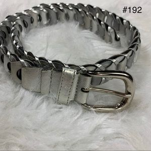 😀 Donna Katz Silver Chain Design Belt Small
